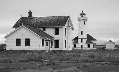 Photograph - Point Wilson Lighthouse 2 by Richard J Cassato
