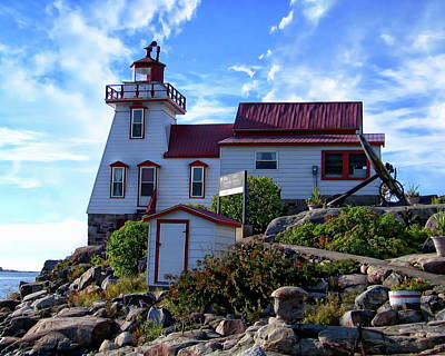 Photograph - Pointe Au Baril Lighthouse by Anthony Dezenzio