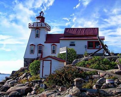 Photograph - Pointe Au Baril Lighthouse by Anthony Dezenzio