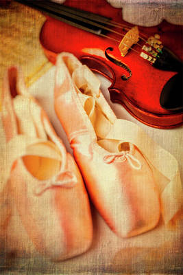 Pointe Shoes And Violin Art Print