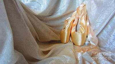 Photograph - Pointe Shoes On White by Laurianna Taylor