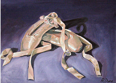 Dance Painting - Pointe Shoes by Rachelle Dyer