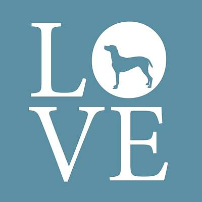 Pointer Love Print by Nancy Ingersoll
