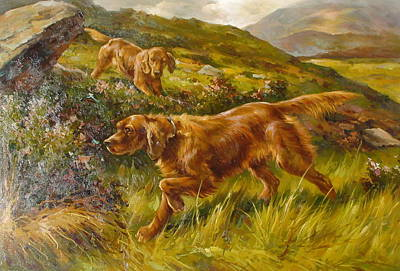 Setter Pointer Painting - Pointers by Lucia Amitra