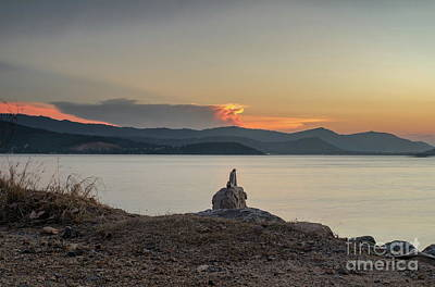 Photograph - Pointing On Sunset by Michelle Meenawong