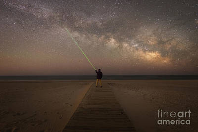 Pointing To The Stars  Art Print