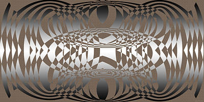 Black Diamonds Digital Art - Points7-9-3 by Evelyn Patrick