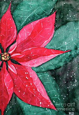 Painting - Pointsettia by Rebecca Davis