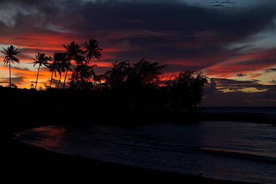 Photograph - Poipu Beach Sunrise by Roger Mullenhour