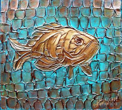 Art Print featuring the painting Poisson D'ore by Phyllis Howard