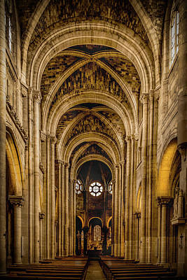 Photograph - Poissy, France - Nave, Notre-dame De Poissy by Mark Forte
