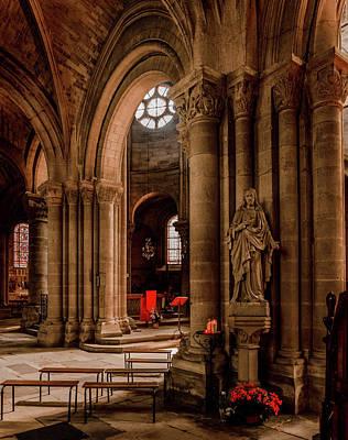 Photograph - Poissy, France - Oblique View, Notre-dame De Poissy by Mark Forte