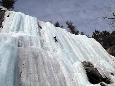 Pok-o-moonshine Ice Clmbing In The Adirondacks Art Print by Brendan Reals