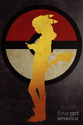 Sold Recent Digital Art - Pokegirl 3 by Irina Effa