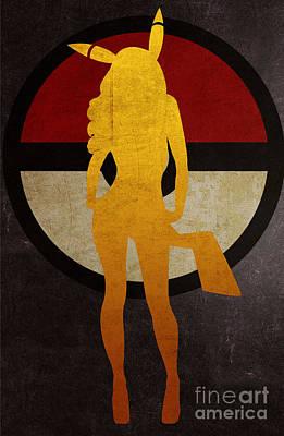 Sold Recent Digital Art - Pokegirl 4 by Irina Effa