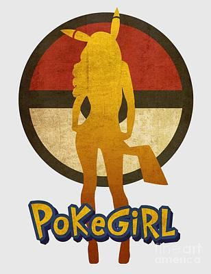 Sold Recent Digital Art - Pokegirl 43 by Irina Effa