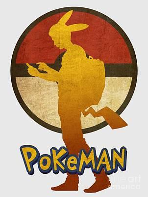 Sold Recent Digital Art - Pokeman 5 by Irina Effa