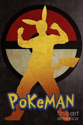 Sold Recent Digital Art - Pokeman Print 4 by Irina Effa