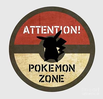 Sold Recent Digital Art - Pokemon Zone 3 by Irina Effa