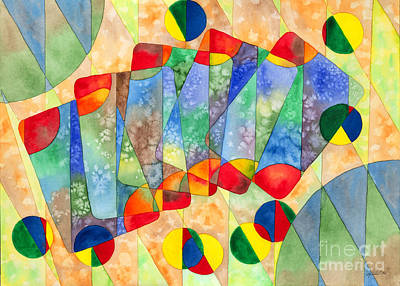 Painting - Poker Abstract Watercolor by Kristen Fox