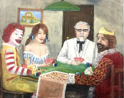 Painting - Poker With The Ad Icons by Larry Lamb