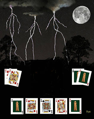 Mixed Media - Poker Cards by Eric Kempson