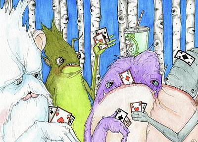 Painting - Poker Faces by Julie McDoniel