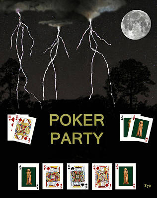 Norway Mixed Media - Poker Party  Poker Cards by Eric Kempson