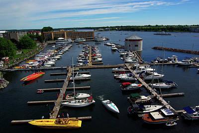 Poker Run Boats At Confederation Basin Art Print