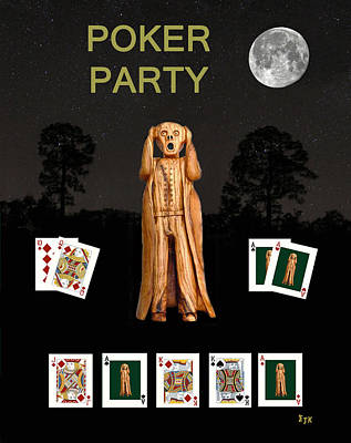 Poker Scream Party Poker Art Print