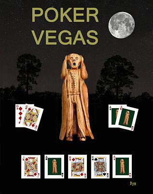 Norway Mixed Media - Poker Vegas Scream by Eric Kempson