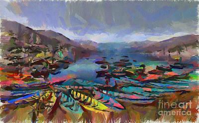 Painting - Pokhara by Sergey Lukashin