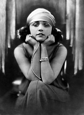 Diamond Bracelet Photograph - Pola Negri, Ca. Early 1920s by Everett