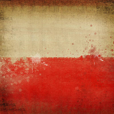 Abstract Map Photograph - Poland Flag  by Setsiri Silapasuwanchai