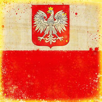 Poland Flag Art Print by Setsiri Silapasuwanchai