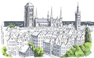 Poland, Gdansk City Downtown Original