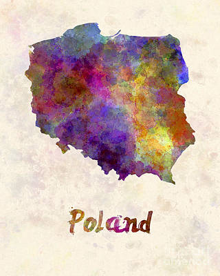 Poland Art Painting - Poland In Watercolor by Pablo Romero