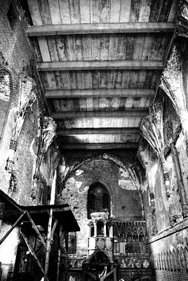 Photograph -  Poland - Malbork Castle - Church Of The Virgin Mary B/w by Jacqueline M Lewis