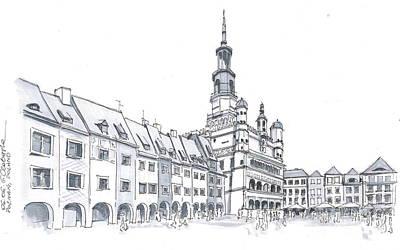 Poland, Poznan City Downtown Original