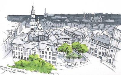 Poland, Poznan Downtown View Original