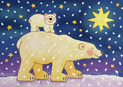 Polar Back Ride Art Print by Cathy Baxter