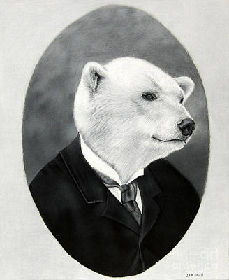 Drawing - Polar Bear 1880 Mr. Atwood by John Small