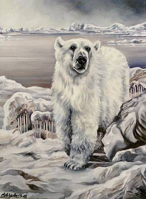 Painting - Polar Bear by Art By Three