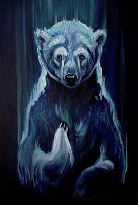 Painting - Polar Bear Benediction by Christine Montague