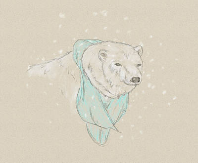 Digital Art - Polar Bear by Crystal Hubbard