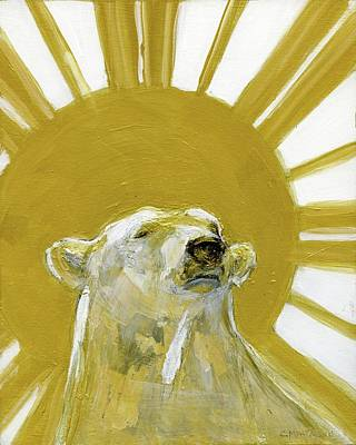 Painting - Polar Bear King by Christine Montague