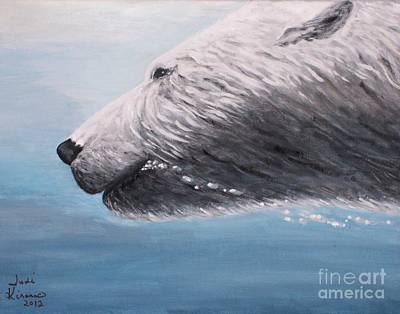 Painting - Polar Bear Splash by Judy Kirouac