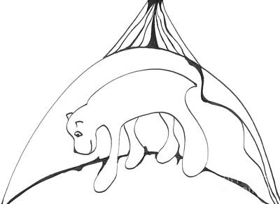 Drawing - Polar Bear Symbol by Mary Mikawoz