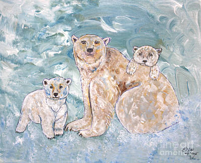 Painting - Polar Bears Three by Ella Kaye Dickey