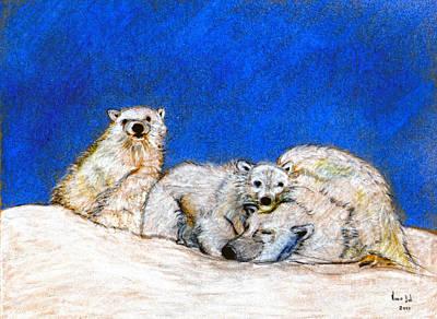 Polar Bears With Love Art Print by Marie Loh